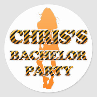 Chris's Bachelor Party Classic Round Sticker