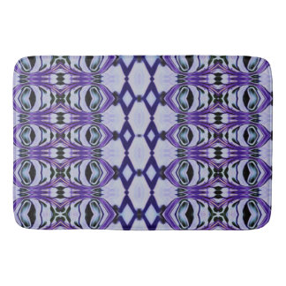Chrissy's Stripes in purple Bath Mat