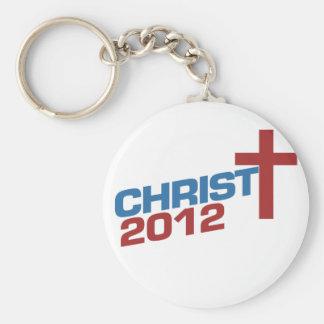 Christ 2012 basic round button keychain