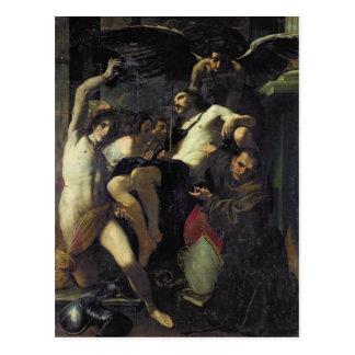 Christ Adored by Angels, St. Sebastian Postcard
