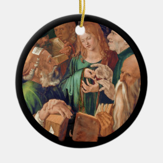 Christ Among the Doctors c1506 Ceramic Ornament