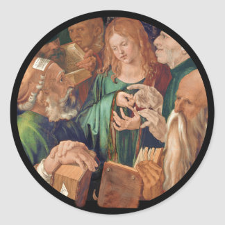 Christ Among the Doctors c1506 Classic Round Sticker