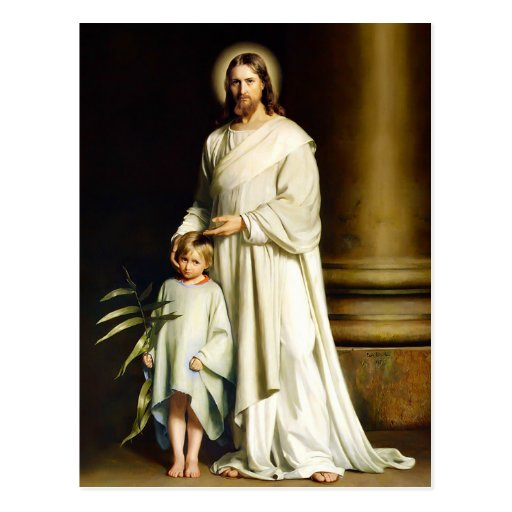 Christ and Child. Fine Art Easter Postcards