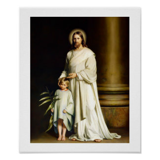 """""""Christ and Child"""" Painting by Carl Bloch. Poster"""