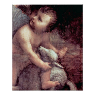 Christ and Lamb by Leonardo di ser Piero da Vinci Poster