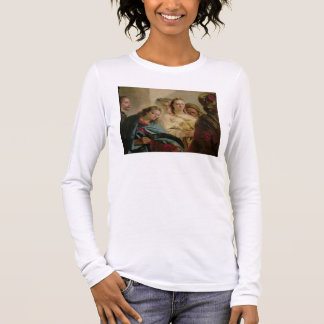 Christ and the Adulteress, 1751 (oil on canvas) Long Sleeve T-Shirt