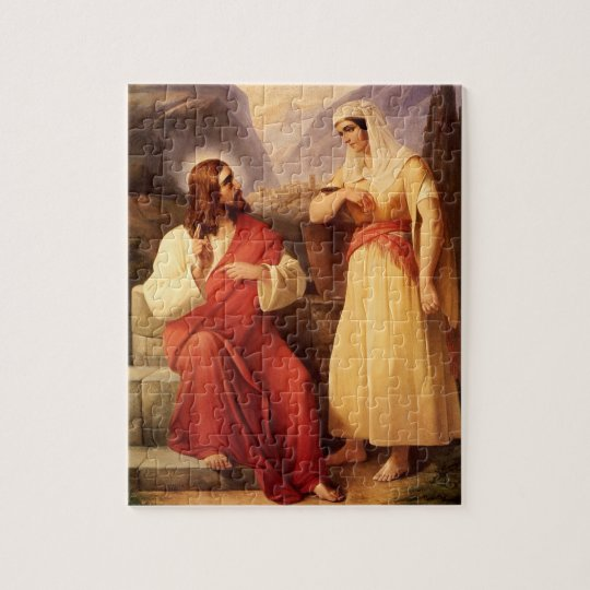 Christ and the Samaritan by Christian Schleisner Jigsaw Puzzle