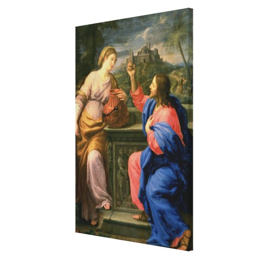 Christ and the Woman from Samaria Canvas Print