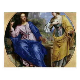 Christ and the Woman of Samaria Postcard