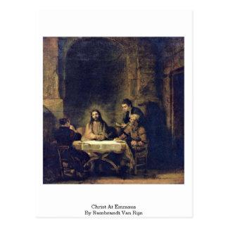 Christ At Emmaus By Rembrandt Van Rijn Postcard