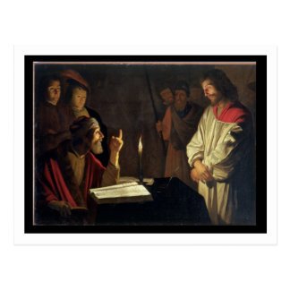 Christ Before Caiaphas (oil on canvas) Postcard