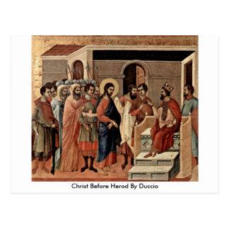 Christ Before Herod By Duccio Postcard