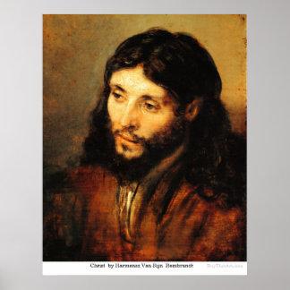 Christ  by Harmensz Van RijnRembrandt Poster