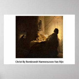 Christ By Rembrandt Harmenszoon Van Rijn Poster