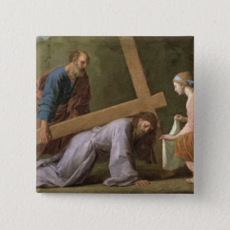 Christ Carrying the Cross, c.1651 2 Inch Square Button