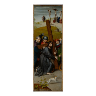 Christ Carrying the Cross, with the Crucifixion Poster
