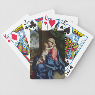 Christ Child Embracing His Mother Bicycle Playing Cards