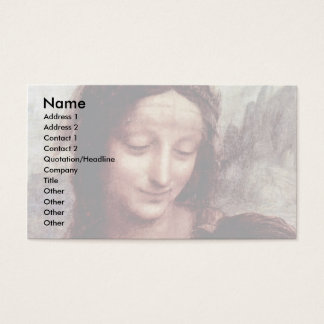 Christ Child With St. Anne Maria Lamb  By Leonardo Business Card
