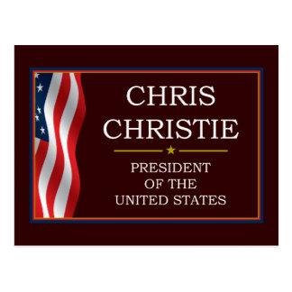 Christ Christie President V3 Postcard