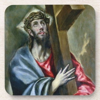 Christ Clasping the Cross, 1600-10 (oil on canvas) Beverage Coaster