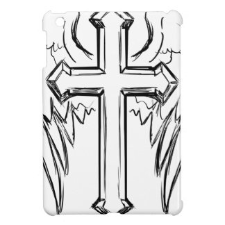 Christ cross with wings cover for the iPad mini