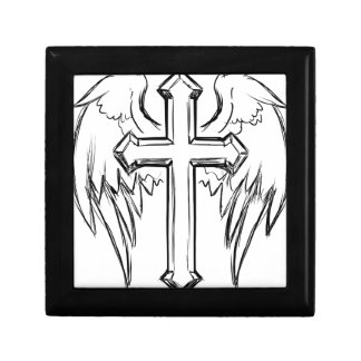 Christ cross with wings gift box
