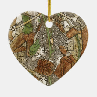 Christ Crowned with Thorns Ceramic Heart Ornament