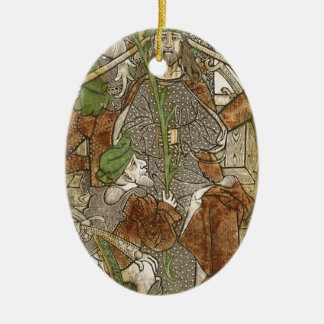Christ Crowned with Thorns Ceramic Ornament