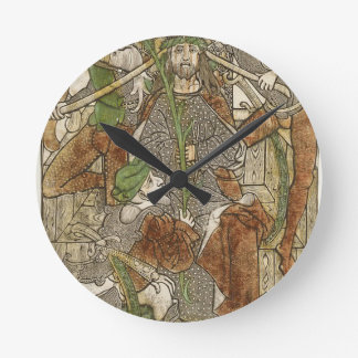 Christ Crowned with Thorns Round Clock