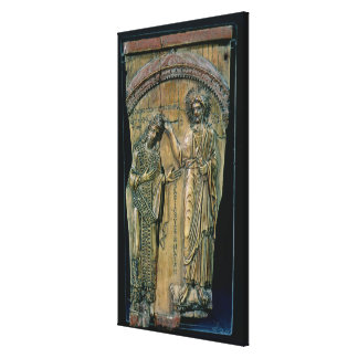 Christ Crowning the Emperor Constantine VII Stretched Canvas Prints