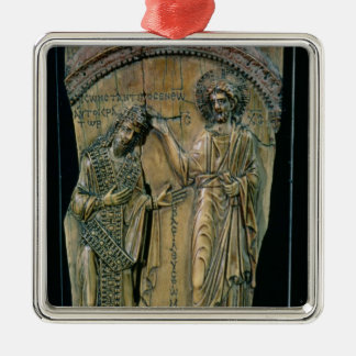 Christ Crowning the Emperor Constantine VII Christmas Tree Ornaments