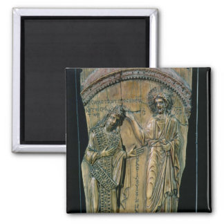 Christ Crowning the Emperor Constantine VII Square Magnet