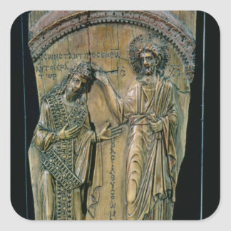 Christ Crowning the Emperor Constantine VII Square Sticker