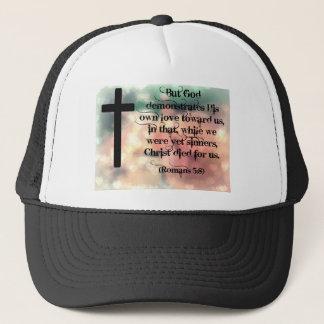 Christ died for us trucker hat
