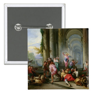 Christ Driving the Merchants from the Temple Pinback Buttons