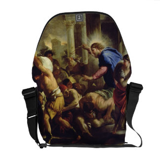 Christ Driving the Merchants from the Temple Courier Bags