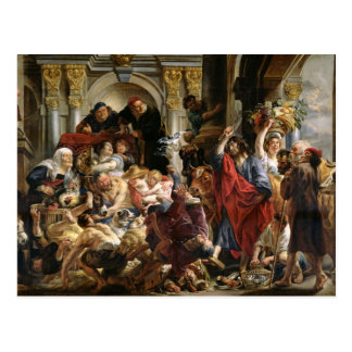 Christ Driving the Merchants from the Temple Postcard