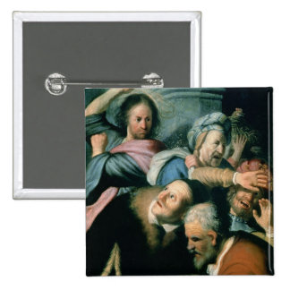 Christ Driving the Moneychangers 2 Inch Square Button