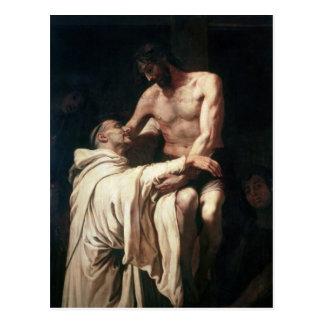 Christ Embracing St. Bernard Postcard