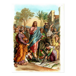 Christ Entering Jerusalem Postcard