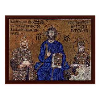Christ Enthroned And Blessing From The Emperor Postcard