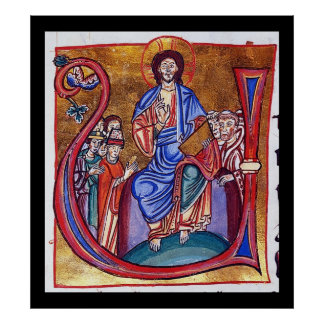 Christ Enthroned Christian Religious Art Poster