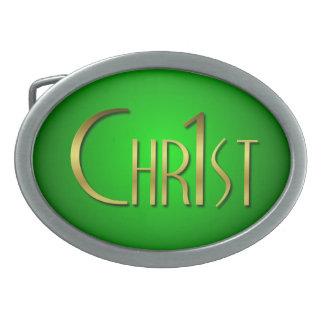 Christ First Oval Belt Buckles