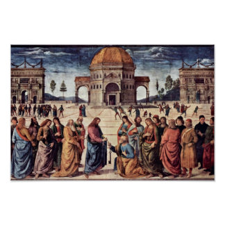 Christ Hands St. Peter The Keys To The Kingdom Poster