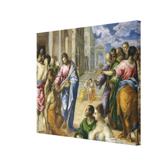 Christ Healing the Blind Canvas Print