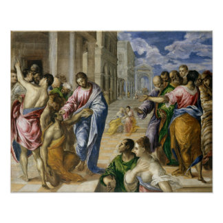 Christ Healing the Blind Poster