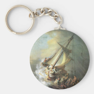 Christ in a storm on the sea of Galilee -Rembrandt Keychain