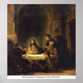 Christ In Emmaus  by Harmensz Van RijnRembrandt Poster