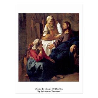 Christ In House Of Martha By Johannes Vermeer Postcard