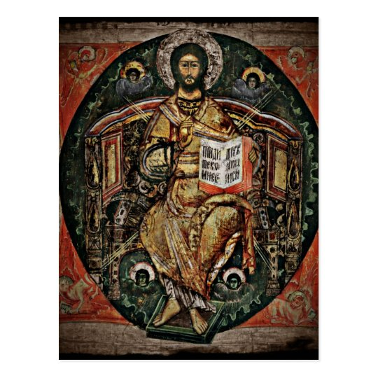 Christ in Majesty Icon 1780 Postcard